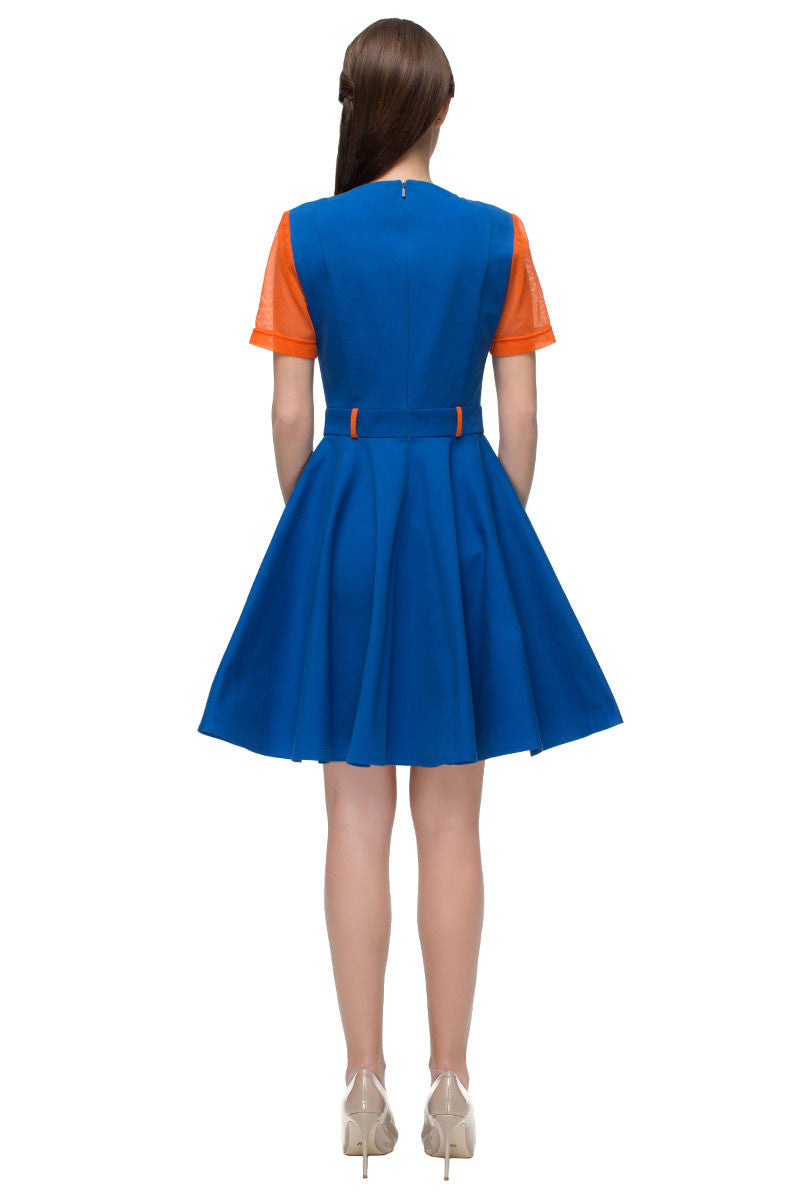 'Blue and Orange Dress'