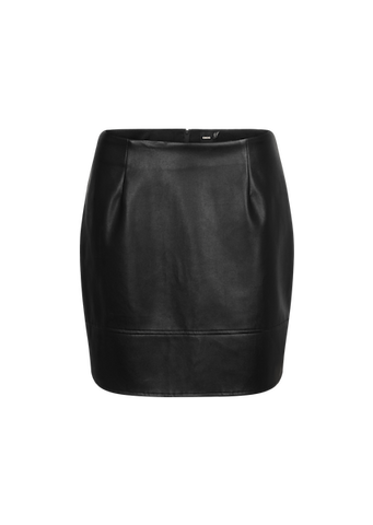 ASOS MINI SKIRT IN LEATHER LOOK
