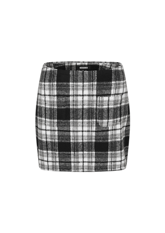 MISSGUIDED MINDIE CHECK A-LINE SKIRT