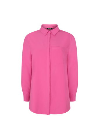 MISSGUIDED SLIM FIT PINK SHIRT