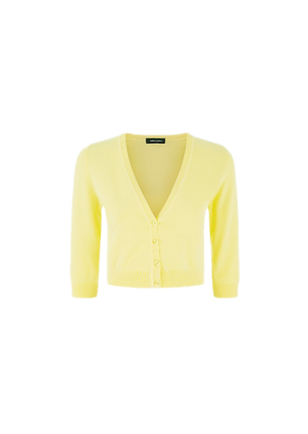 NEW LOOK CROPPED YELLOW CARDIGAN