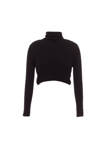 TOPSHOP ROLL NECK CROP TOP