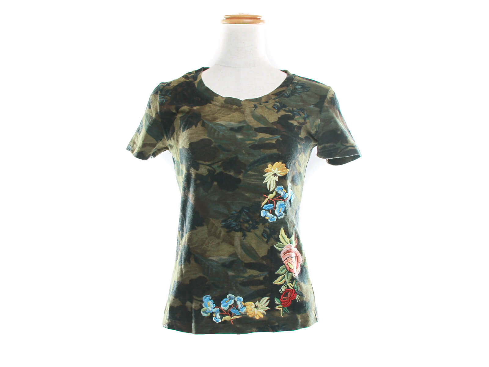 Authentic vintage Christian Dior camo embroidered T shirt