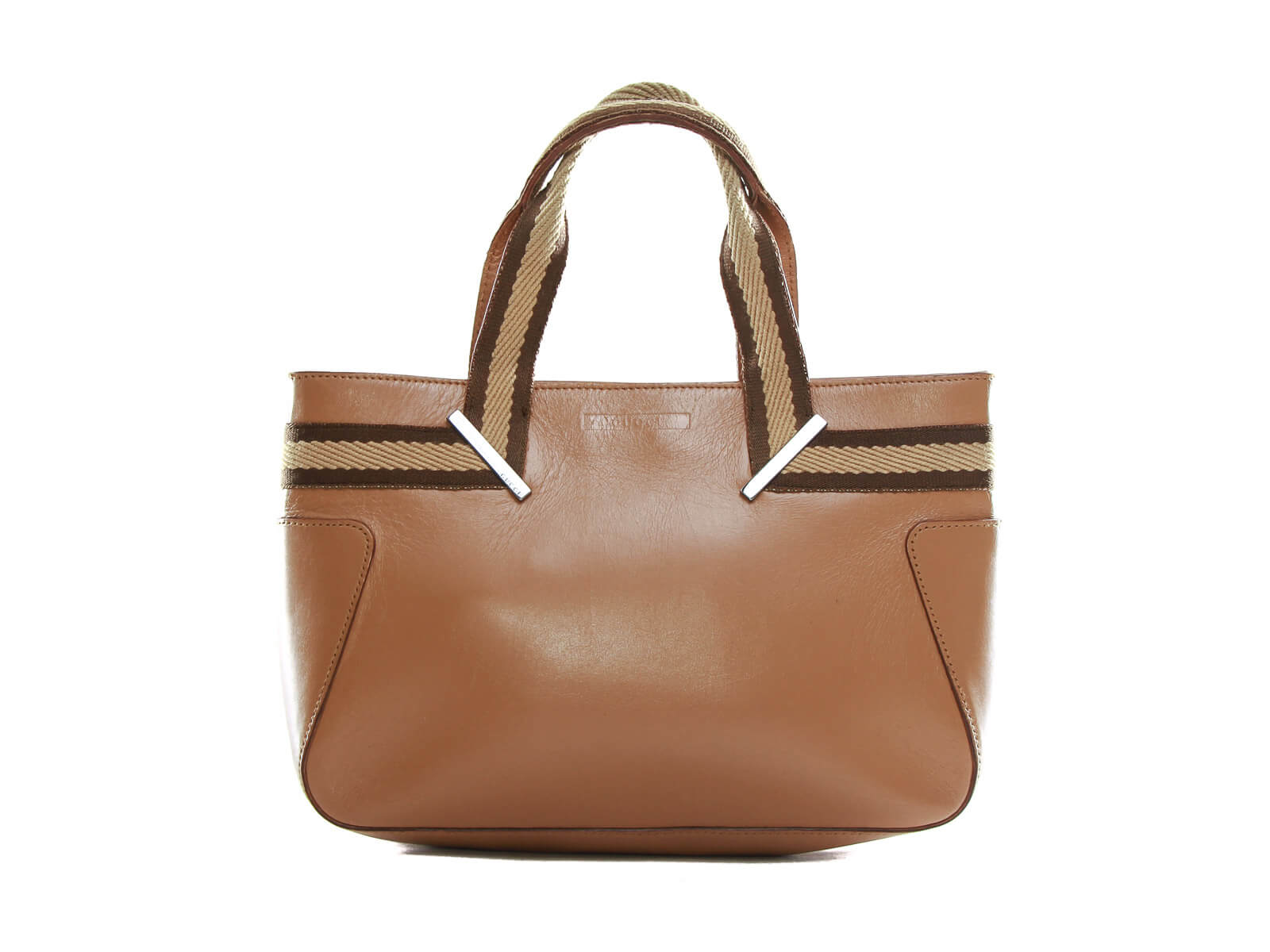 Authentic Gucci Tan leather small Tote hand bag