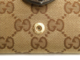 Authentic Gucci monogram canvas heart buckle 6 key case