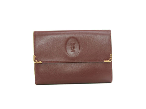 Authentic Chloe Zippy brown Python bow wallet