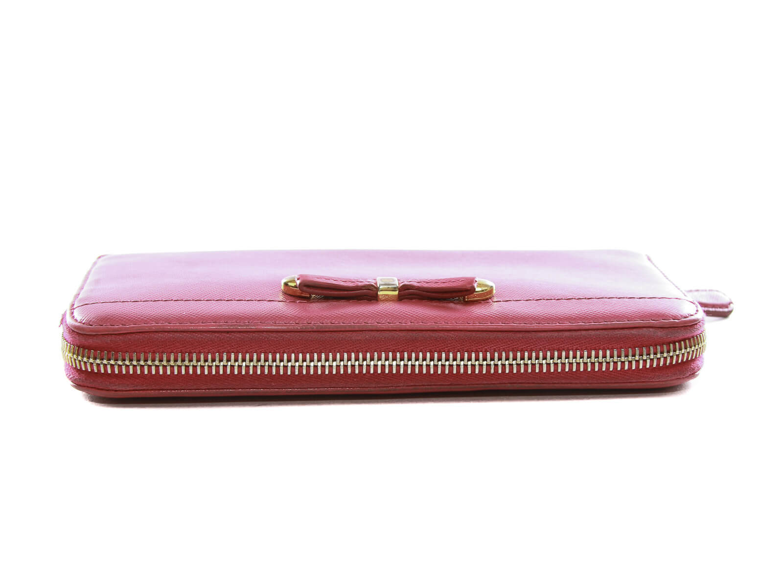 9a1254e82bd650 ... Authentic Prada Saffiano Chick Peonia leather zip around wallet ...