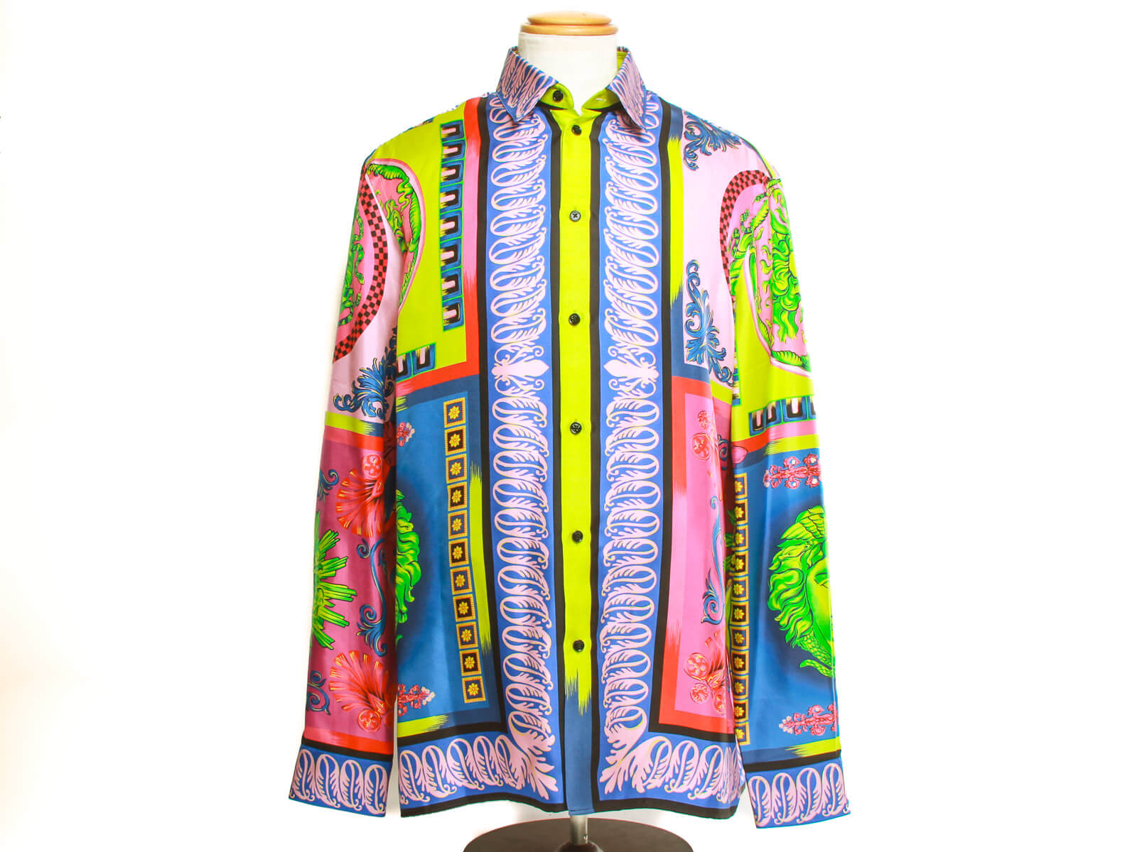 Authentic Gianni Versace camicia tessuto silk shirt