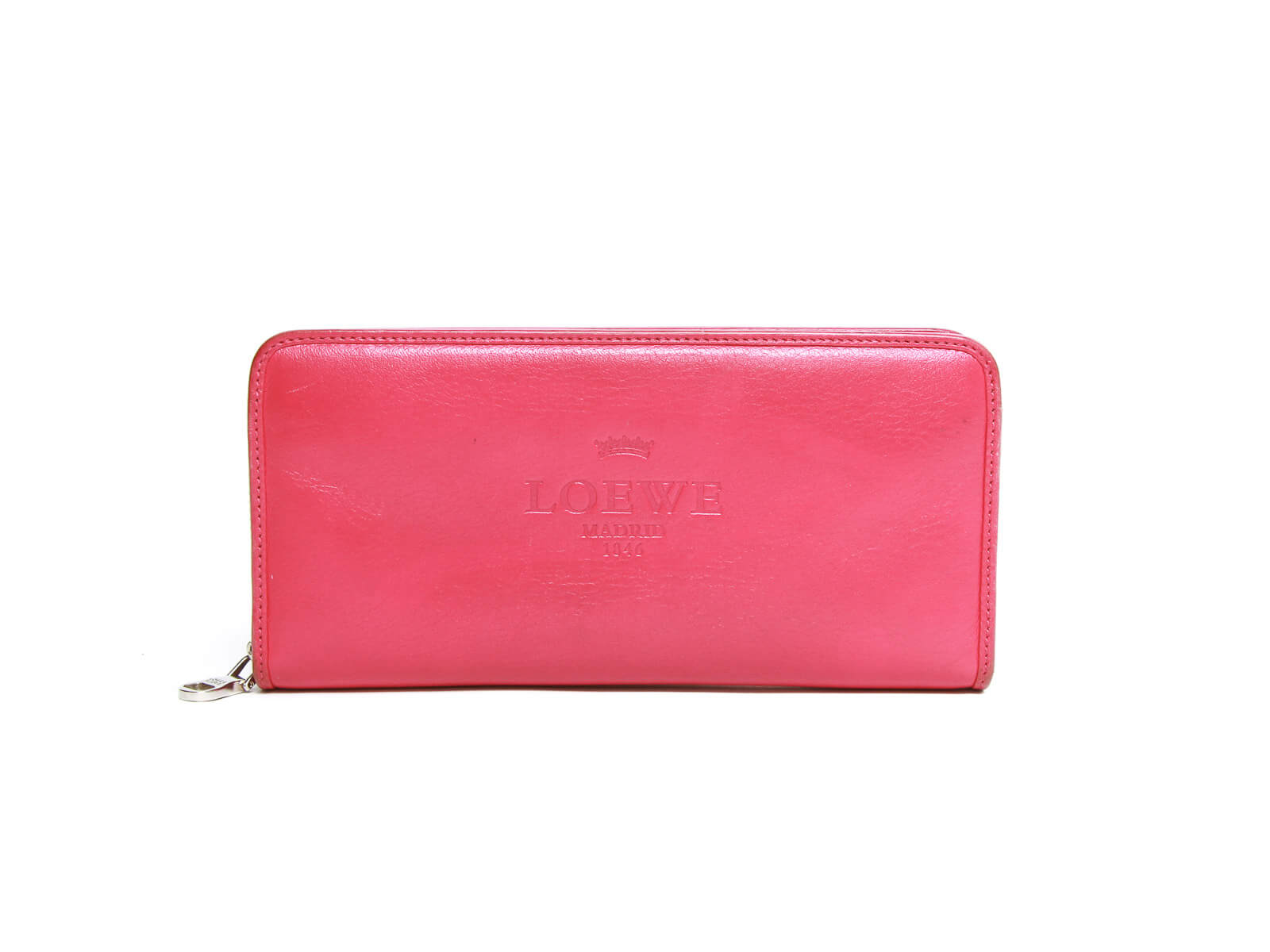 Authentic Loewe Billetero Magenta zip around wallet