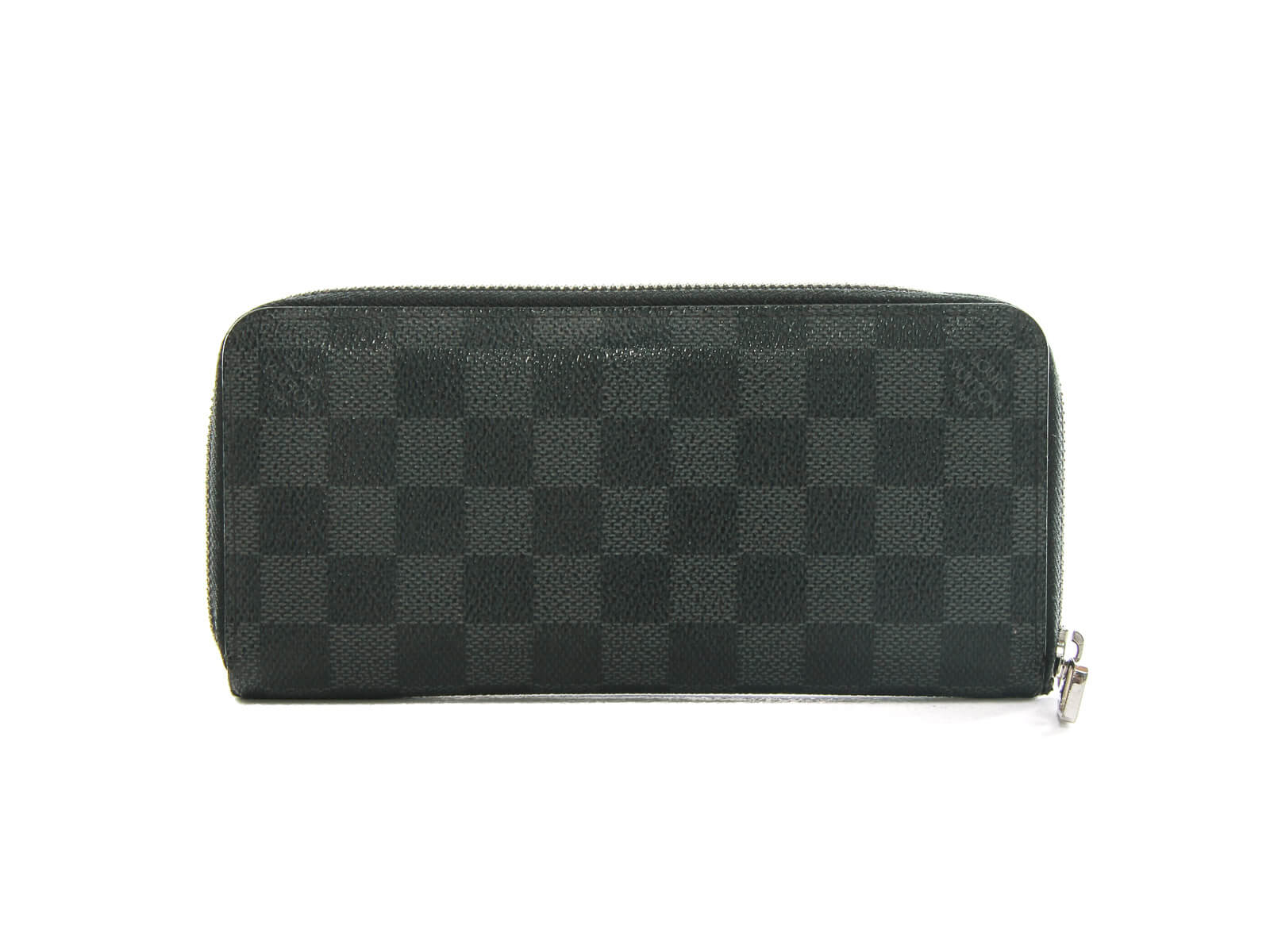 Authentic LOUIS VUITTON Damier Graphite Zippy Organizer Wallet