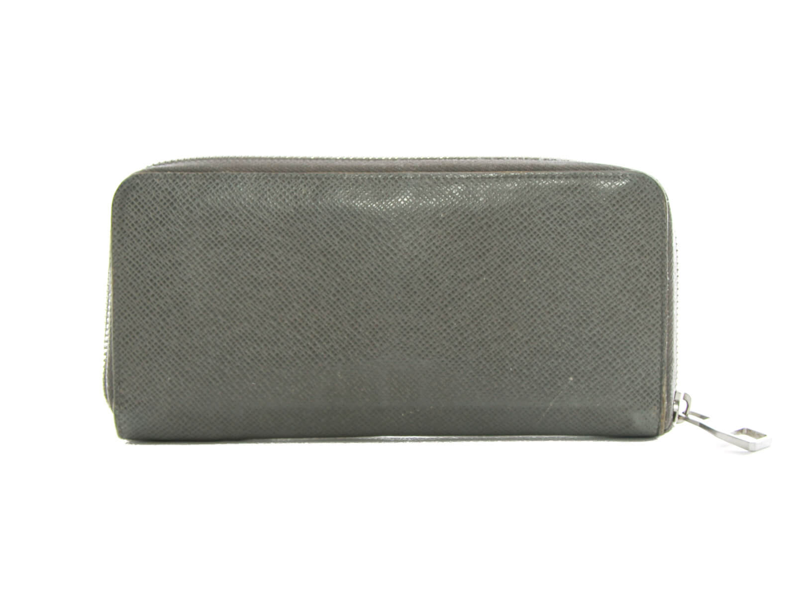 Authentic Louis Vuitton grey Taiga Zippy Organizer Wallet