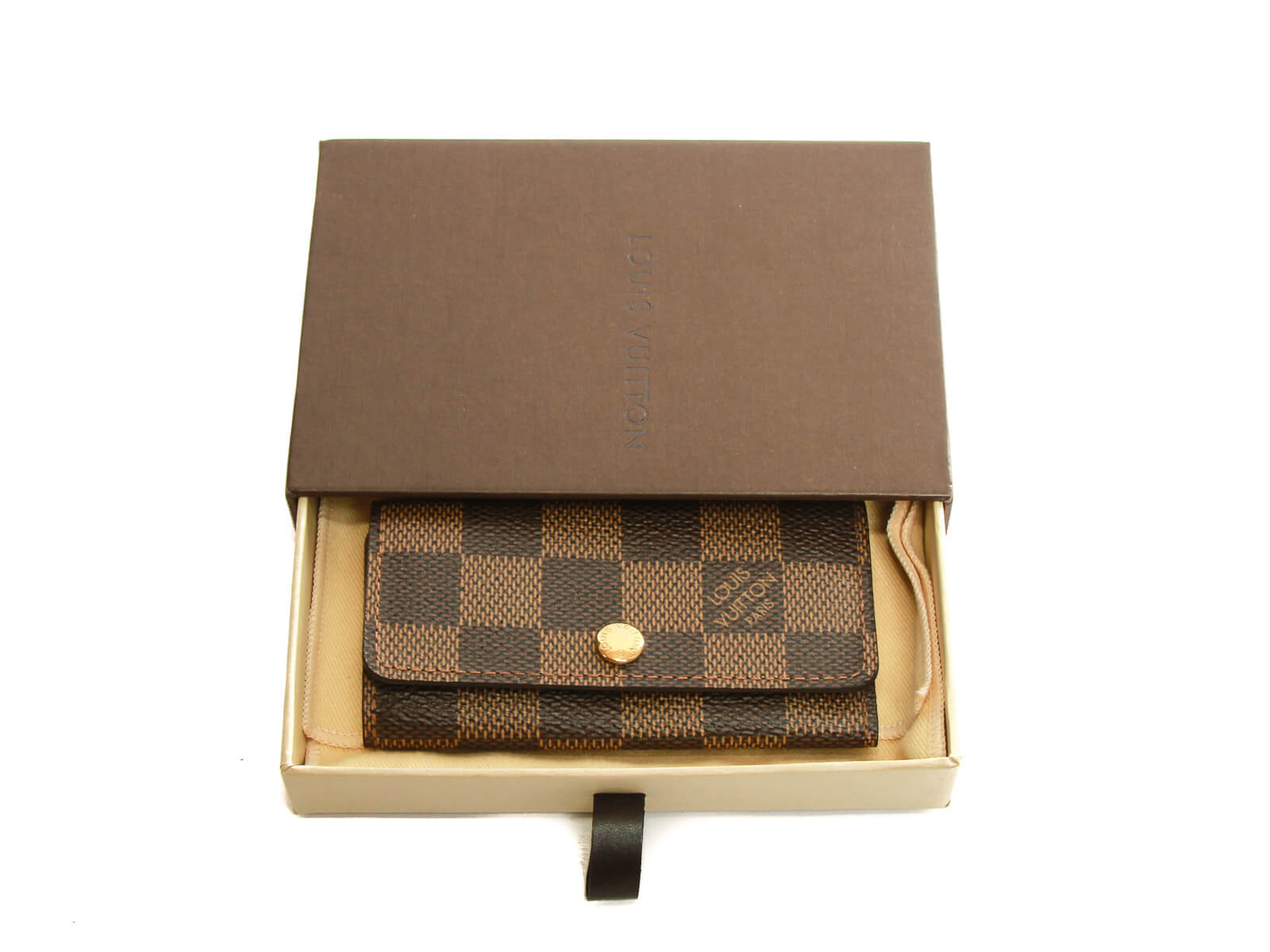 Authentic Louis Vuitton Damier Ebene Multicles 4 Key case