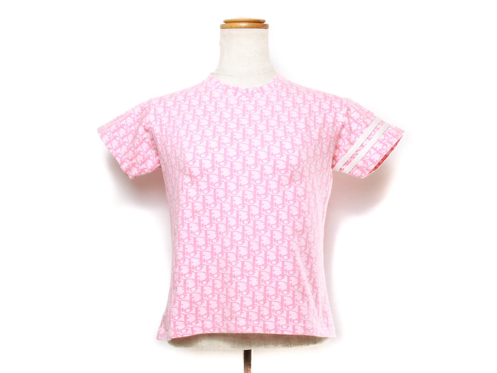 Authentic Christian Dior Trotter Pattern pink tshirt