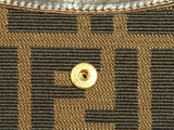 Authentic Fendi Zucca canvas brown leather wallet