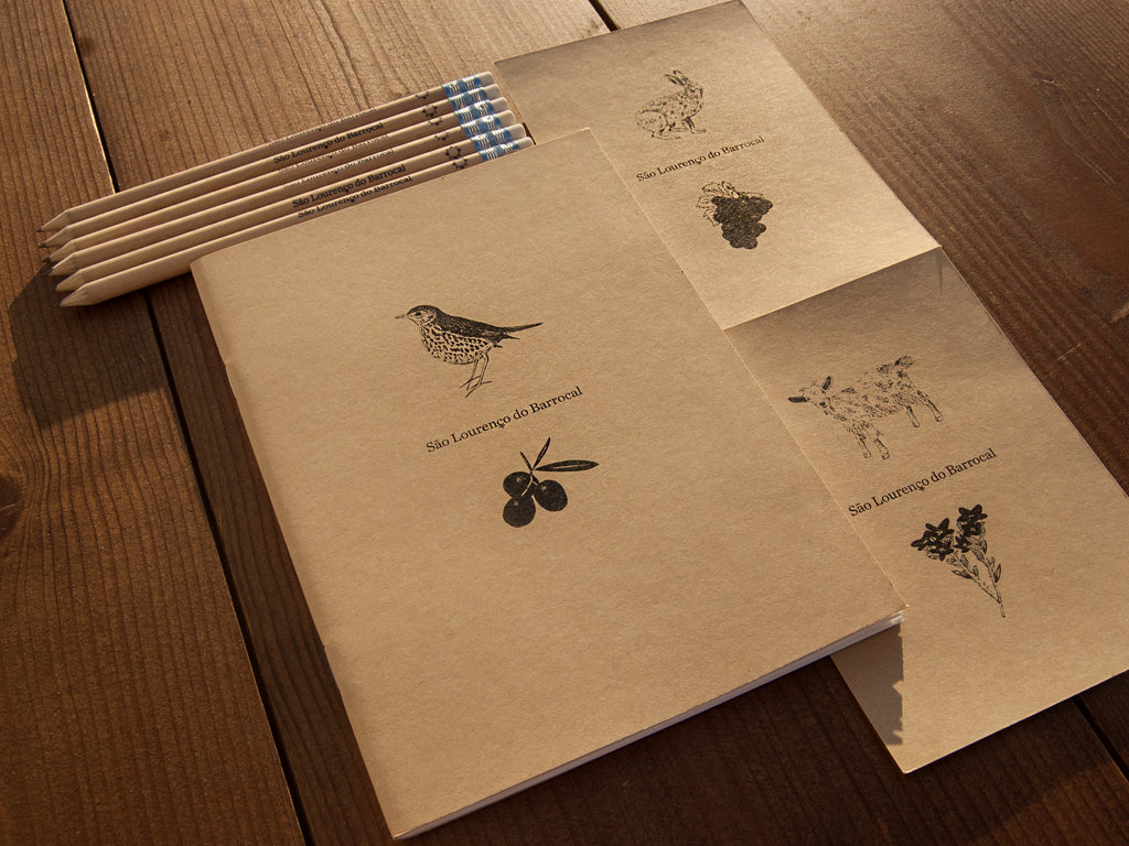 Barrocal stationery set / <i>Conjunto estacionário Barrocal</i>