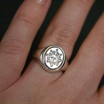 Sol Signet Ring - Brass, Silver or Gold - The Serpents Club