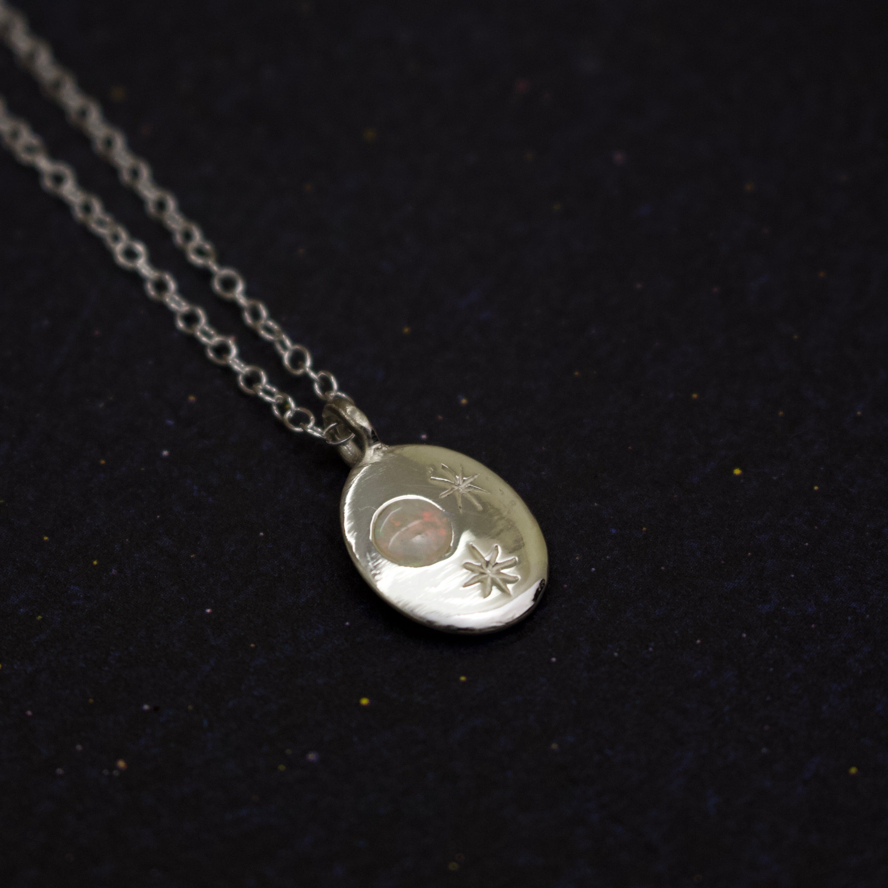 Nyx Necklace - Silver or 9ct Gold - Necklace The Serpents Club