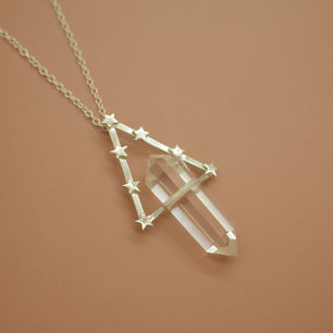Ready To Ship ✦ Ophelia Necklace - Quartz and Silver -  The Serpents Club