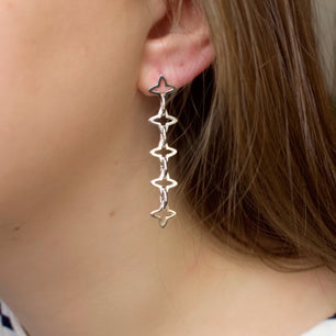 Medieval Star Chain Link Earrings (Silver or Rose/Yellow Gold Vermeil)