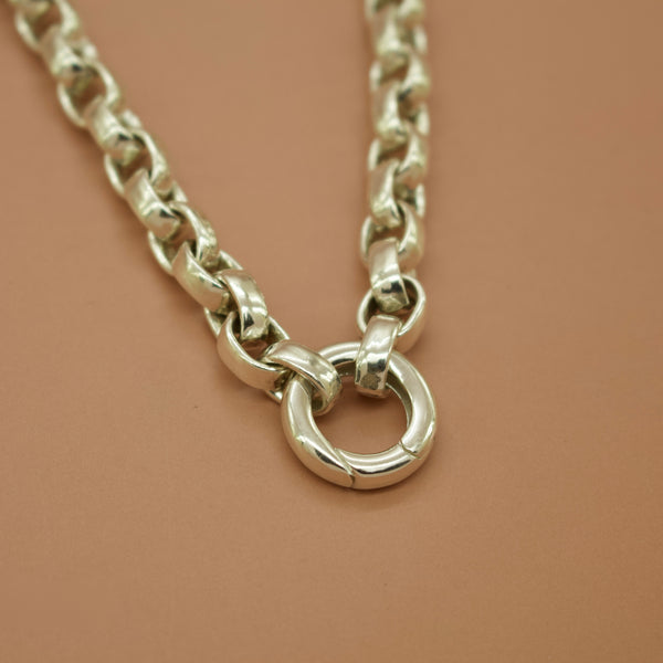 Heavy Interchangable Charm Chain - Silver, Yellow or Rose Gold Vermeil - Necklace The Serpents Club