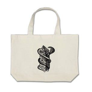 Two Snakes Club Tote -  Large - Bag The Serpents Club