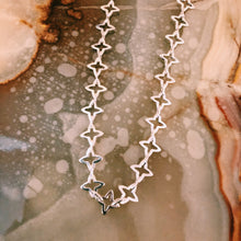Charger l'image dans la galerie, Medieval Star Link Choker Chain - Custom Lengths - Silver, Yellow or Rose Gold Vermeil - Necklace The Serpents Club