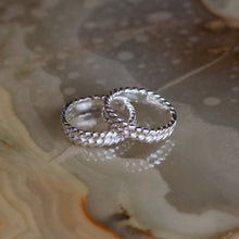 Cargar imagen en el visor de la galería, 'Bound II' Rope Textured Wedding Ring - Silver or Gold - Ring The Serpents Club