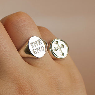 Web Exclusive ✦ The End X The Serpents Club Signet Ring - Ring The Serpents Club