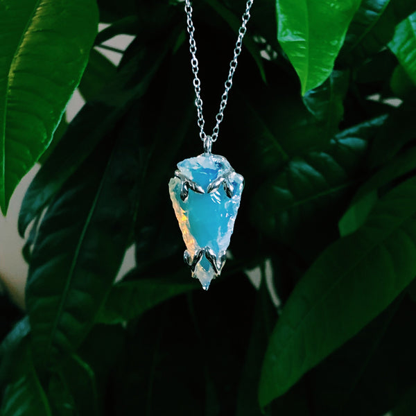 READY TO SHIP - Alder II Necklace - Opalite and Silver - Necklace The Serpents Club