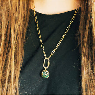 Ready To Ship ✦ Zeme IIl Charm Chain - Brass and Gold Steel