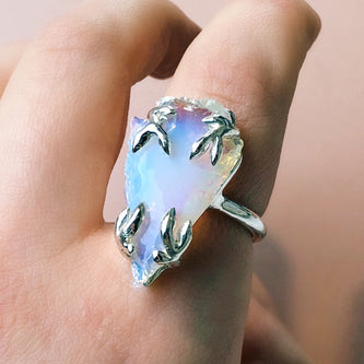 Sorrel Ring - Opalite in Brass, Silver or Gold - Ring The Serpents Club