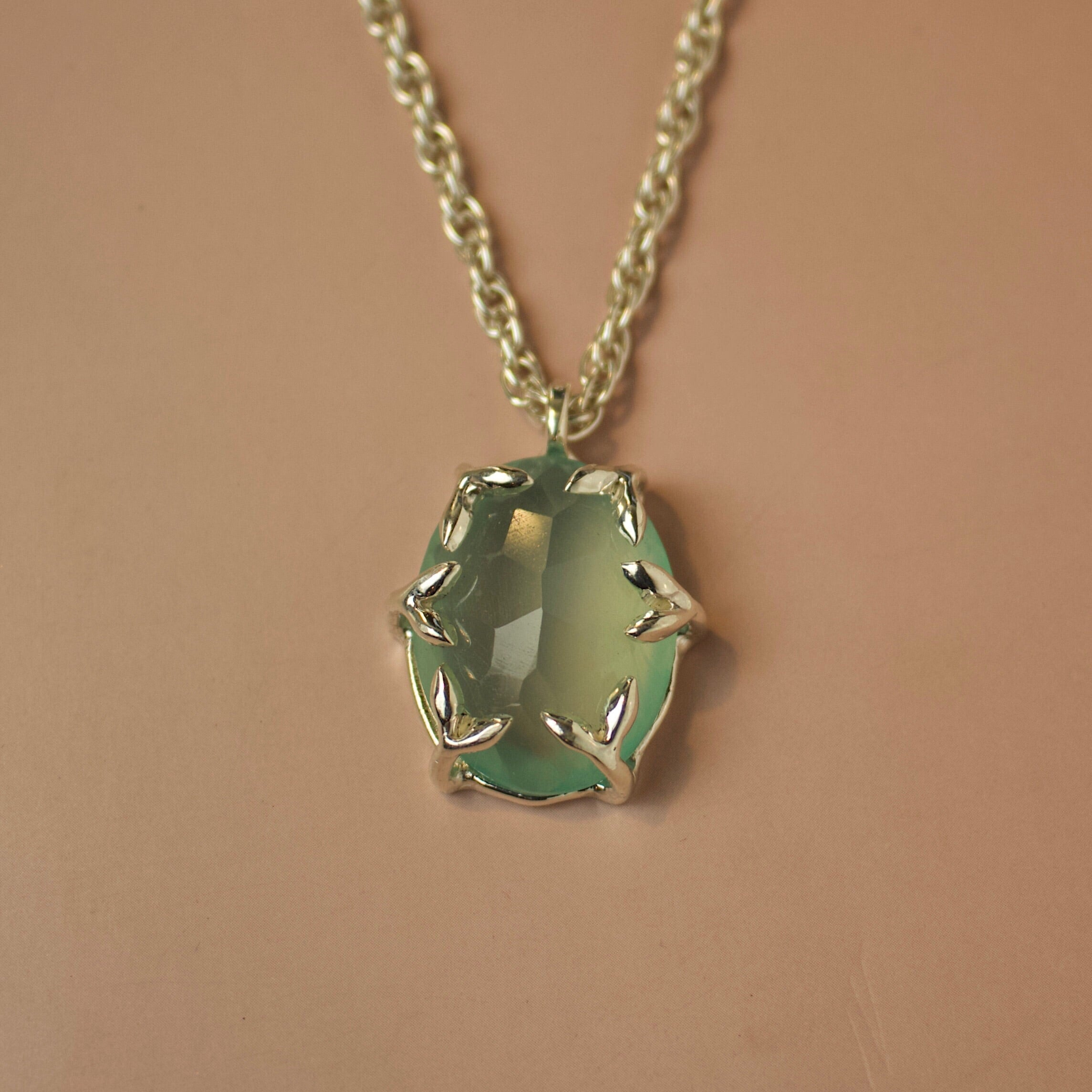 Lou II Necklace - Green Onyx - Necklace The Serpents Club