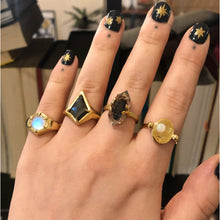 Load image into Gallery viewer, Space Cadet Nail Decals - Gold and Silver Mixed Star Stickers - Nail Stickers The Serpents Club