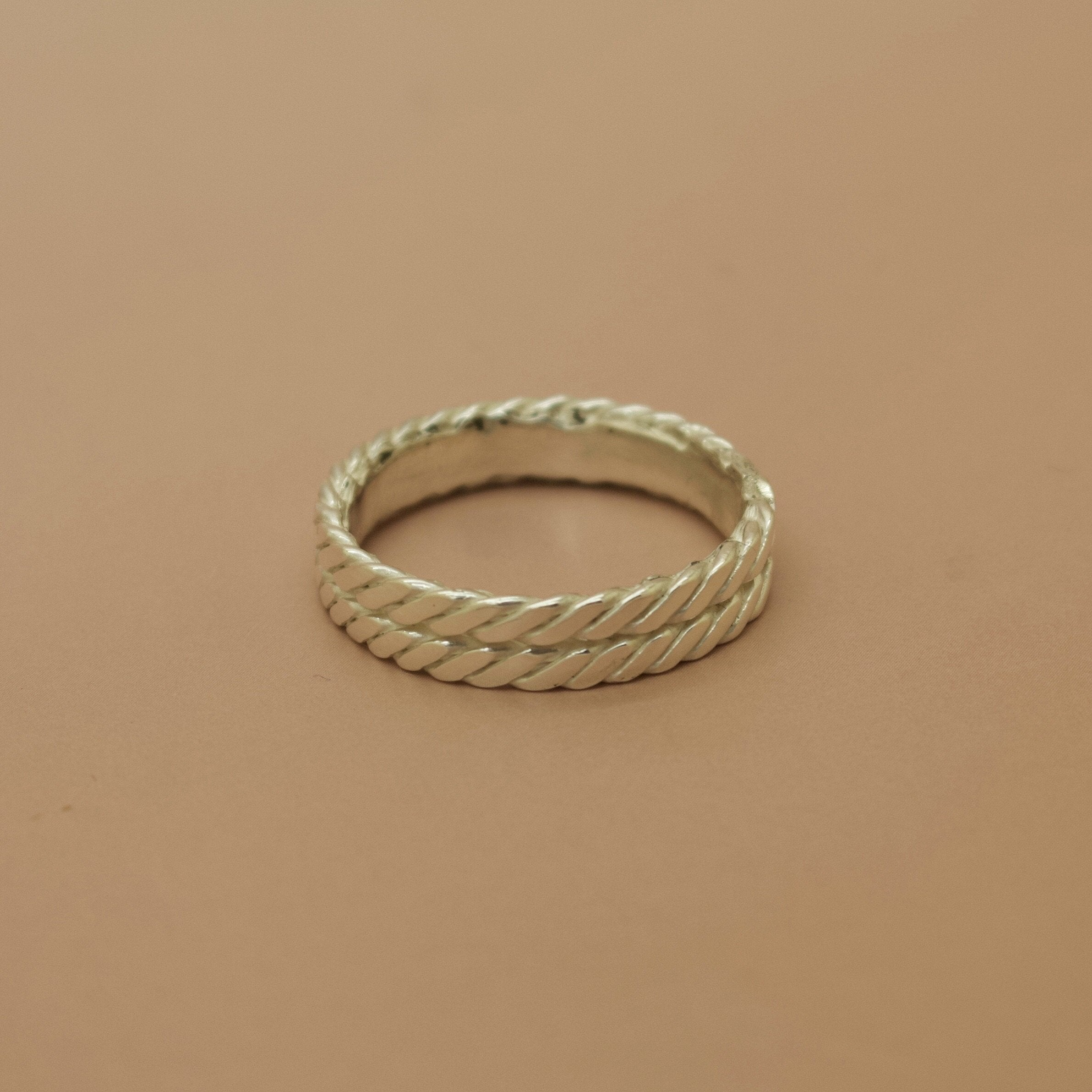 Ready To Ship ✦ Bound II Ring - Silver UK Q / US 8 - Ring The Serpents Club