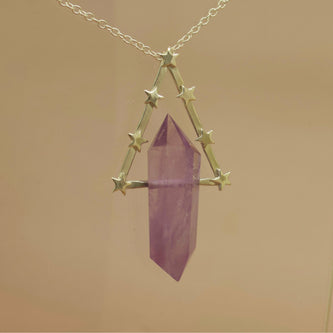 Ready To Ship - Ophelia Necklace in Silver and Amethyst -  The Serpents Club