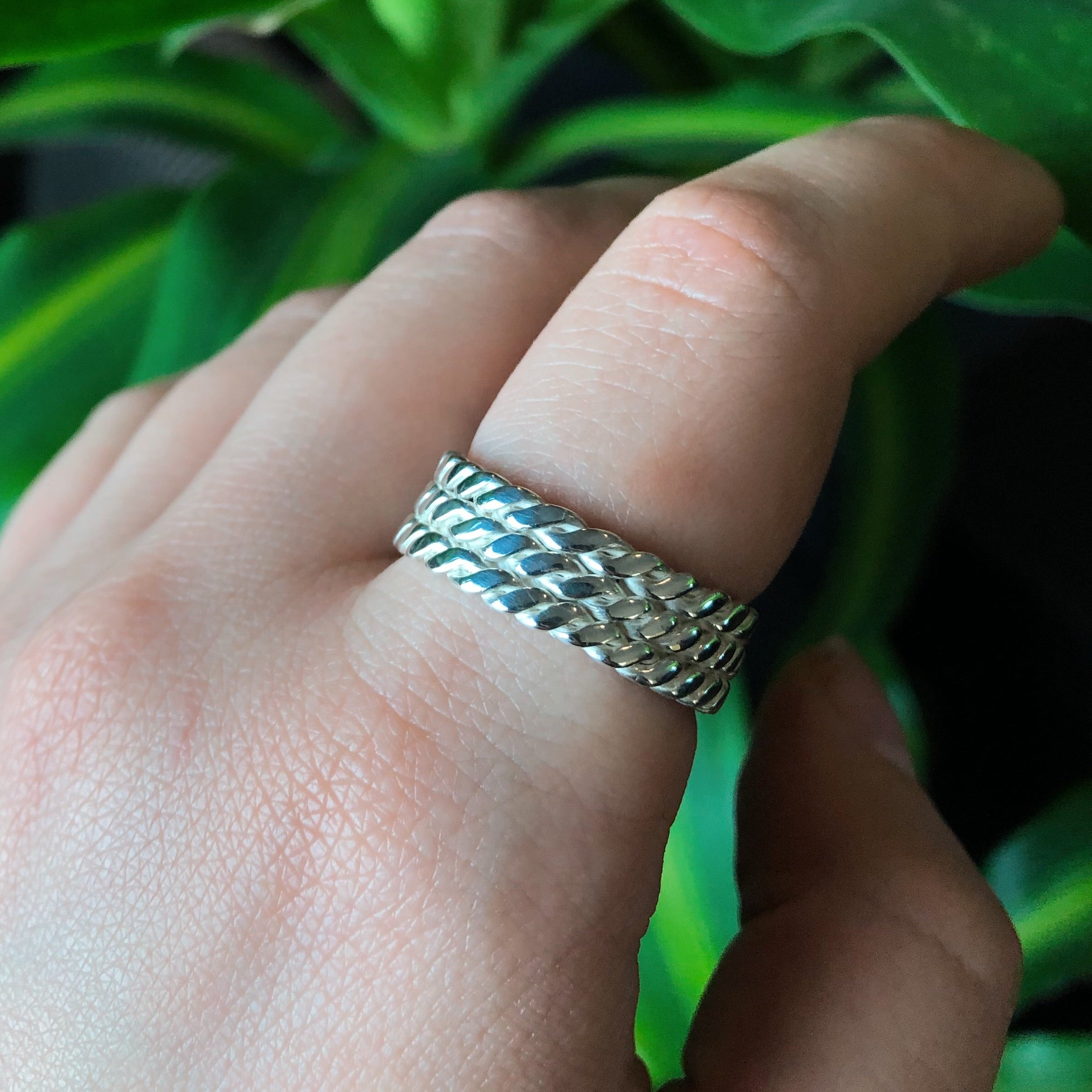 Bound IIl Ring - Silver or Gold -  The Serpents Club
