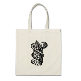 Two Snakes Club Tote - Natural - The Serpents Club