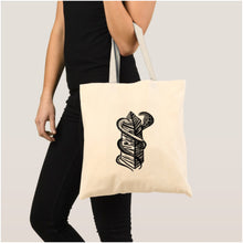 Load image into Gallery viewer, Two Snakes Club Tote - Natural - Bag The Serpents Club