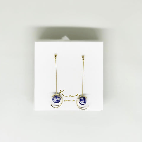 Luna Earring Blue Mix