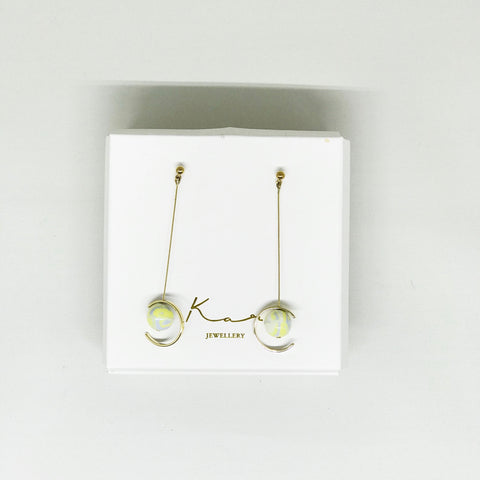 Luna Earring Green Mix