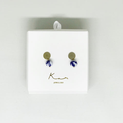 Pluto Earring Blue Mix