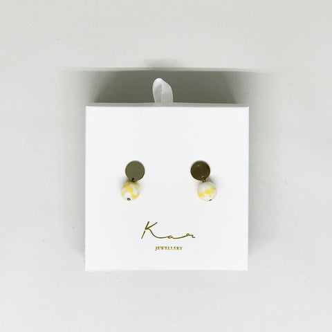 Pluto Earring Yellow Mix