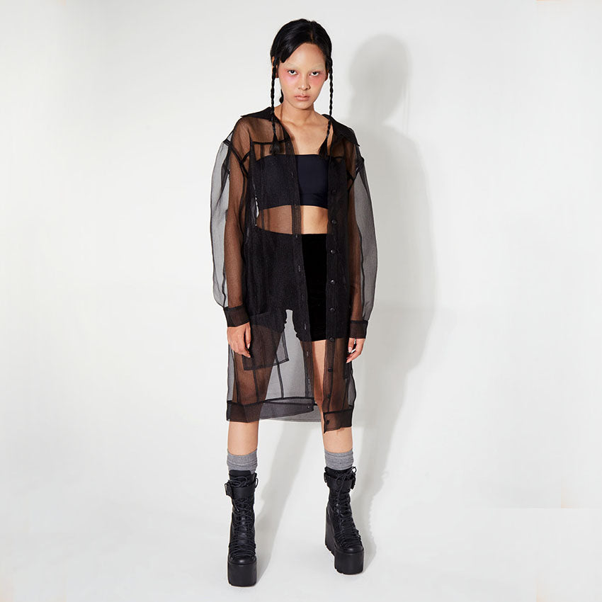 Black Sheer Transparent Outer