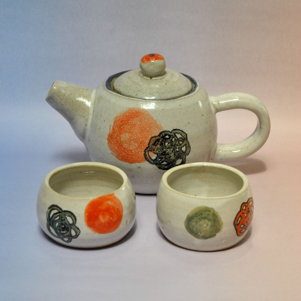Blush On Tea Pot Set