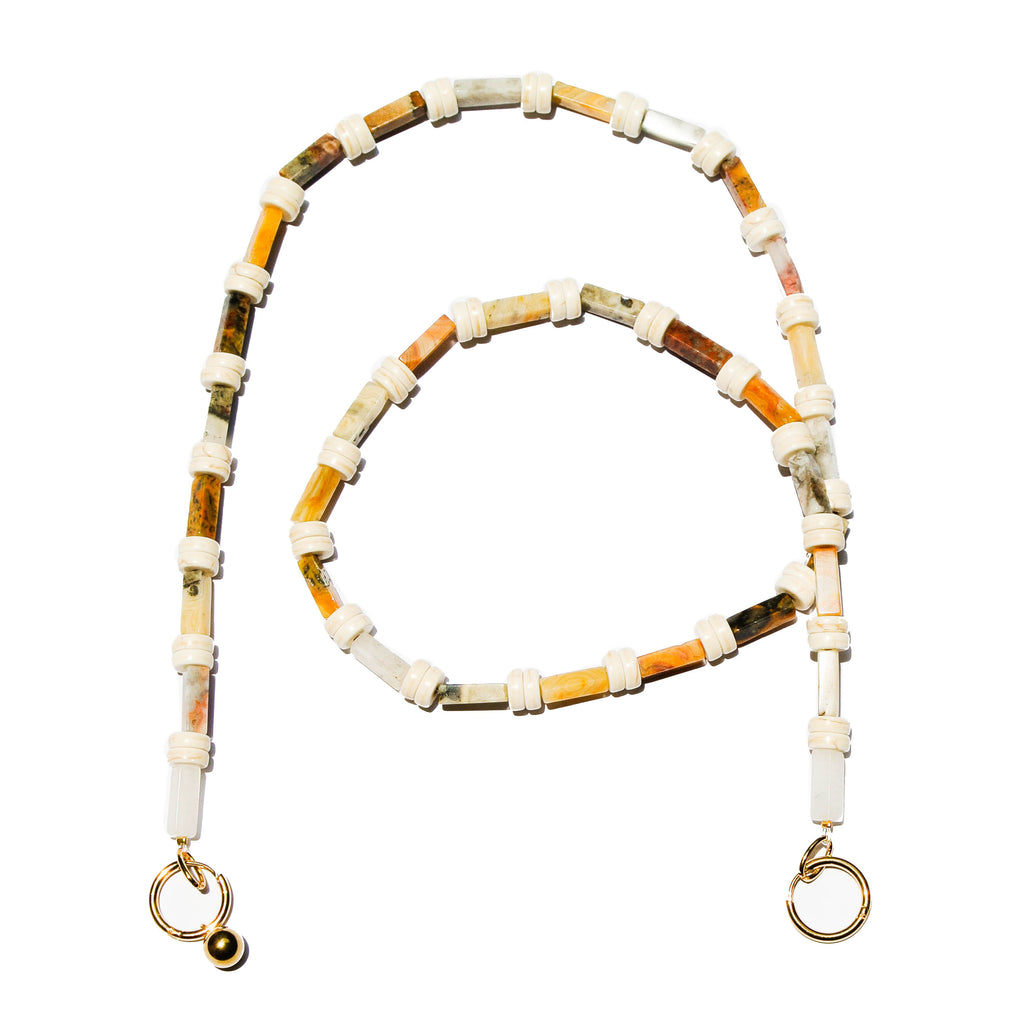 Lace Agate Mask Chain