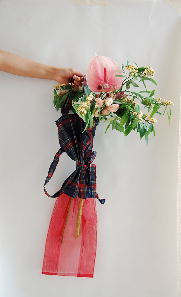 Red Ruff Flower Bag