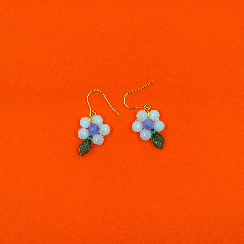 Camellia Hook Earrings