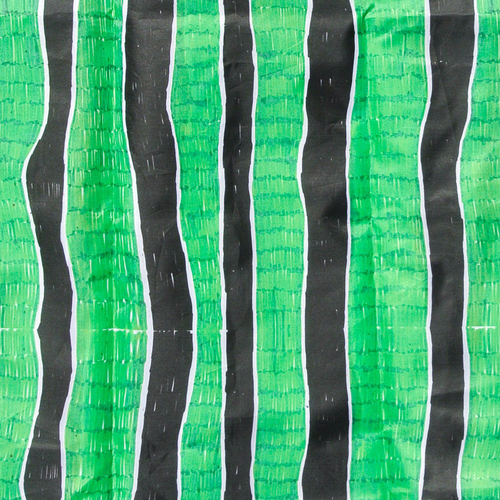 Green Waves Stripes