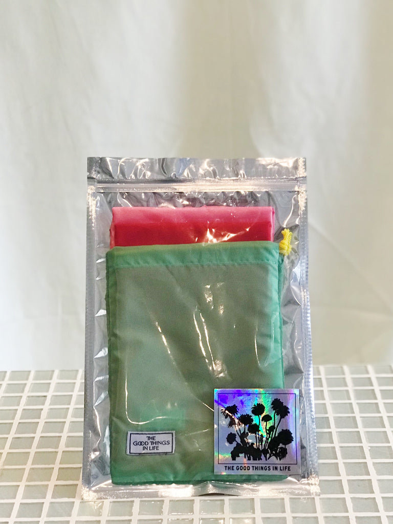 Colorful Pouch - Green/Red/Pink