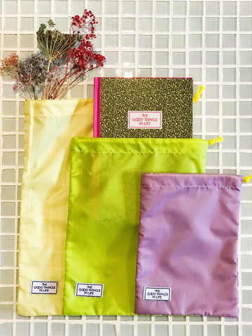 Colorful Pouch - Purple/Green/Yellow